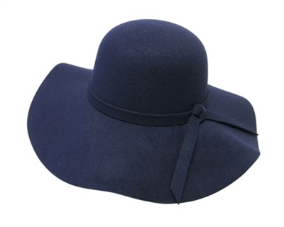 06c7f0aa0bb07 wholesale faux felt floppy hat with tie