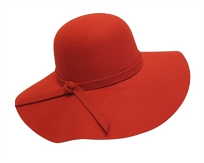 wholesale faux felt floppy hat with tie with Defect