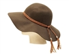 wholesale floppy hats wide brim wool felt with leather tassels