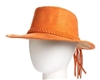 wholesale western womens hats faux suede braided tassel