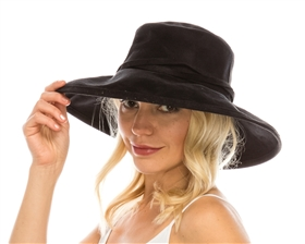 wholesale wide brim suede hats womens faux leather western hat