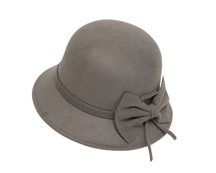 052bb1a1d02 3092 Faux Felt Bucket Hat with Bow