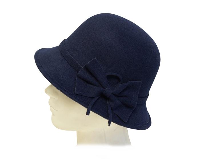 14b03b09b1 3092 Faux Felt Bucket Hat with Bow