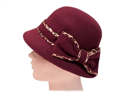 wholesale cloche hats bucket style fall winter leopard trim