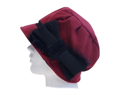 b6ee23a2b42 wholesale winter hats cloche with angora bow