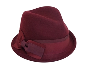 wholesale winter fedora hat asymmetrical