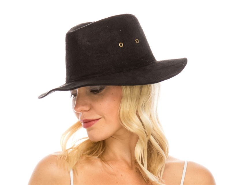 wholesale safari hats faux suede wide brim fedora b33abeca772