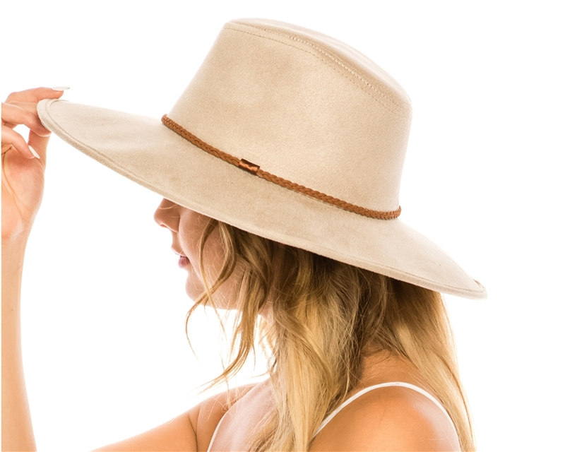 0aa347f3314 wholesale fall-winter hats - vegan suede wide brim women s hat