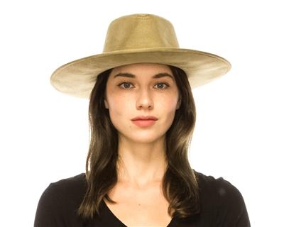 wholesale fall-winter hats - vegan suede wide brim women s hat 288a51f32916
