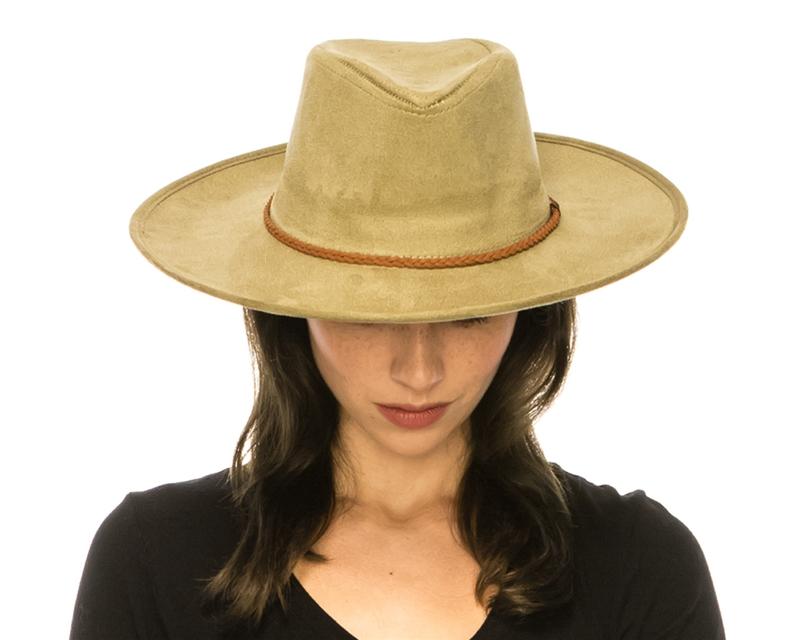 8f40bb6c74c Wholesale Vegan Suede Hats - Panama Wide Brim - Fall Winter