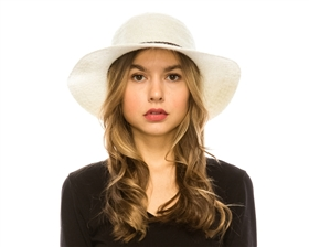 wholesale winter floppy hats - mohair short brim hat