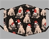 santa pugs Print Cotton Mask - Buy Bulk Print Face Masks Los Angeles - Novelty Face Mask Buy Wholesale Fashion Facemasks - Buy Volume Reusable Cotton Fashion Face Covers Los Angeles Wholesaler USA