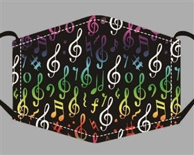 Musical Notes Print Cotton Mask - Buy Bulk Print Face Masks Los Angeles - Novelty Face Mask Buy Wholesale Fashion Facemasks - Buy Volume Reusable Cotton Fashion Face Covers Los Angeles Wholesaler USA