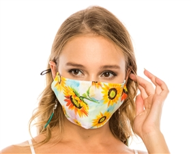 Shop Sunflowers Face Masks - Buy Reusable Cotton Face Masks USA - Bulk Mask Wholesaler Los Angeles