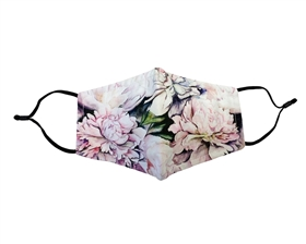 Wholesale Peonies Print Facemasks - Buy Reusable Cotton Flower Face Masks USA - Mask Wholesaler Los Angeles