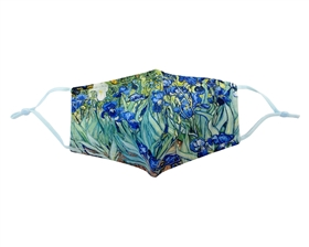 Buy Irises Print Face Masks - Reusable Cotton Face Masks USA - Bulk Mask Wholesaler Los Angeles