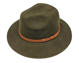 wholesale wool panama hats faux leather belt
