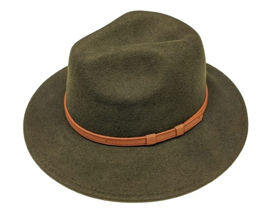 SKU  3112. Wool felt panama hat with faux leather ... 829a44ef5eab