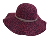 wholesale floppy hats animal print faux felt