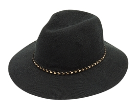 Wholesale Black and Taupe Panama Hats for Women