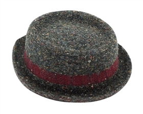 wholesale pork pie hats - mens nubby knit
