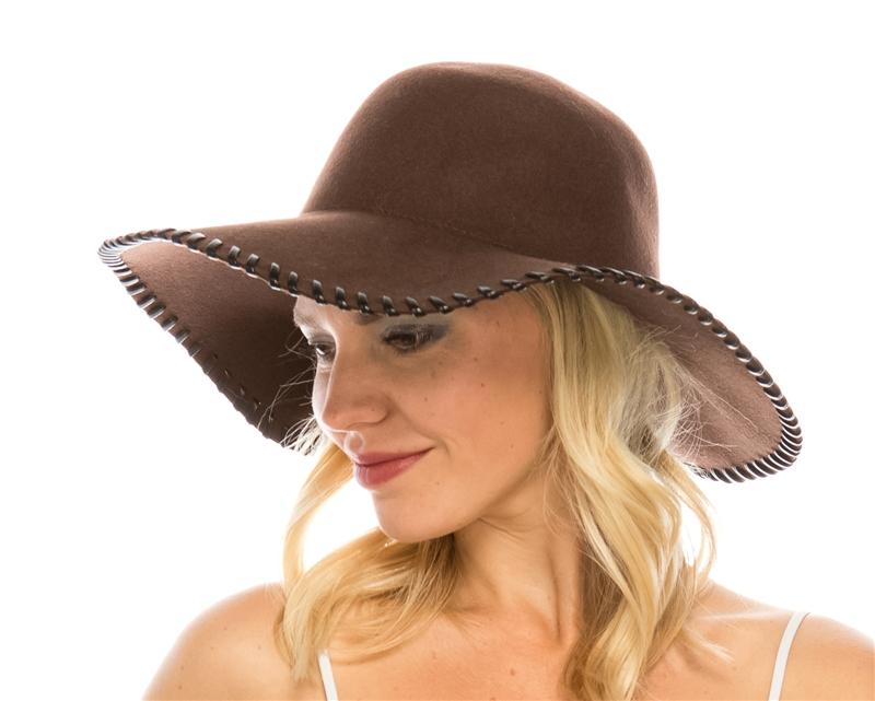c8c048ce251ae7 Wholesale Whipstitch Floppy Hats Wool Felt - Wool Felt Women's Hat