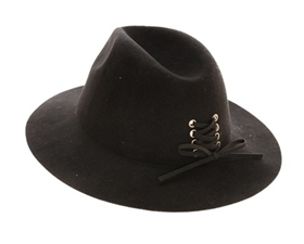 wholesale wool panama hats lace up tie