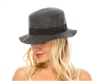 marled wool felt boater hats womens
