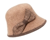 marled wool cloche winter womens fashion bow