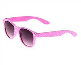 wholesale kids sunglasses flexible frames polka dots