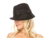 wholesale asym wool felt fedora w bow