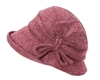 wholesale fall hats - winter cloche hat side knot
