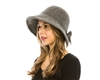 wholesale Split Back Wool Bow Hat