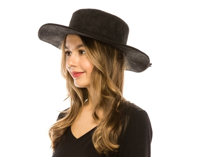 wholesale vegan suede hats - polyester hats wholesale - womens coldweather flat top fashion hats