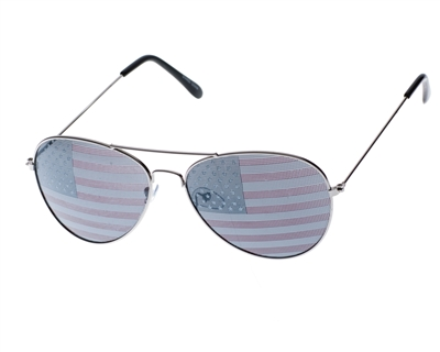 wholesale american flag sunglasses aviators - 4th of july accessories