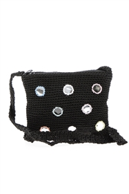 wholesale Nylon Crochet Purse w/ Mirrors