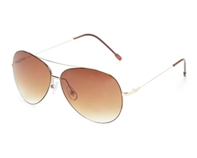 wholesale Thin Rim Aviators Sunglasses -2 Tone Lens