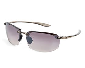 wholesale black sunglasses - Rimless Sport Wrap w/ Flash Mirror Lens Sunglasses