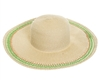 bulk floppy hats - wholesale 4-inch wide brim womens straw sun hats