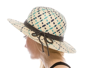 wholesale colorful straw boater hat