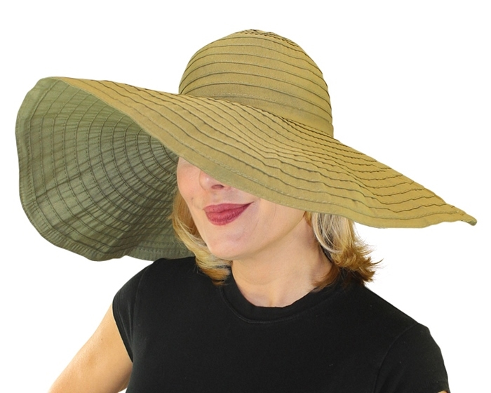 345 Extra Wide Brim Crusher Sun Hat