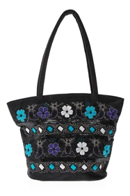 wholesale Suede Handbag w/ Embroidery