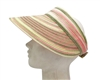 wholesale straw sun visors - space dyed visor hats