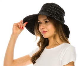wholesale upf hats - ribbon sun hats bucket lampshade ladies hat with big bow