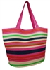 wholesale multicolor striped straw tote bag