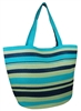 wholesale blue striped straw tote bag
