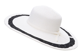 wholesale wide brim hat  ribbon woven edge