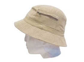 wholesale corduroy bucket hat  zipper