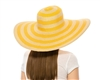 wholesale straw and lurex hat: 6-inch brim