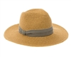 wholesale beach hats - Panama Hat w/ Striped Band